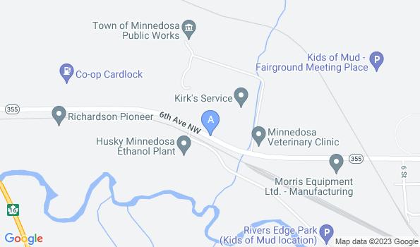Street map of Minnedosa Veterinary Clinic