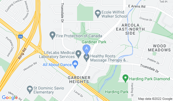 Street map of Gardiner Park Animal Hospital