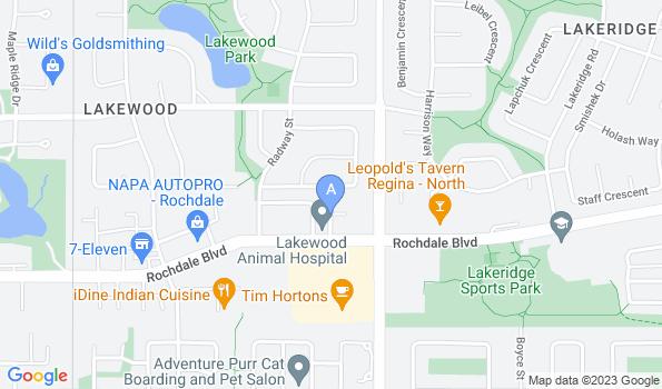 Street map of Lakewood Animal Hospital