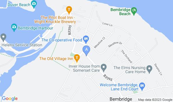 Street map of Bembridge Location