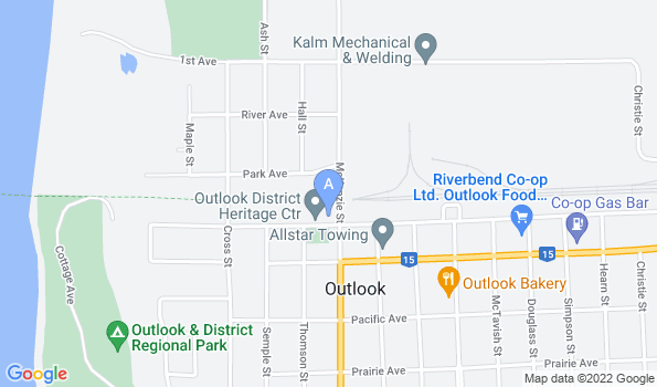 Street map of Outlook Veterinary Clinic