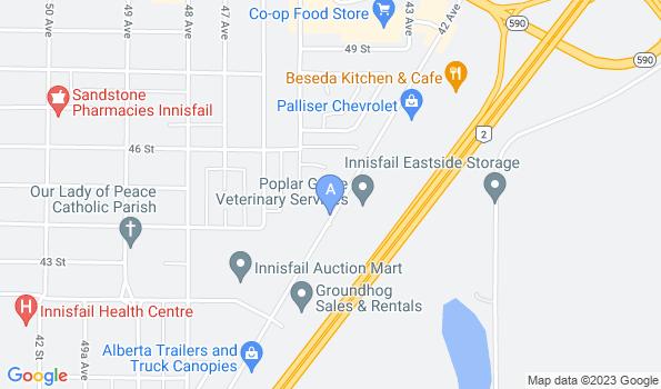 Street map of Poplar Grove Veterinary Services