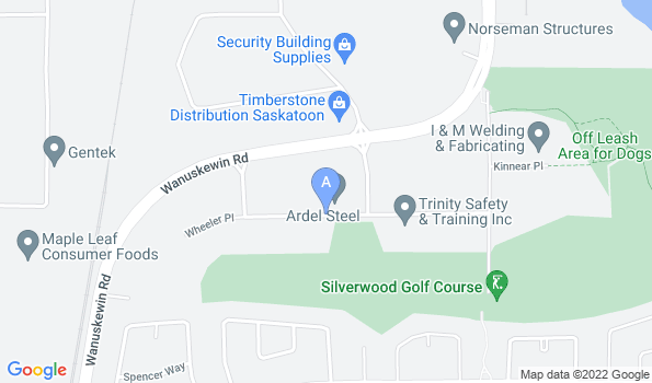 Street map of Saskatoon Head Office Location