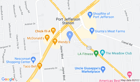 Street map of Roosevelt Animal Hospital