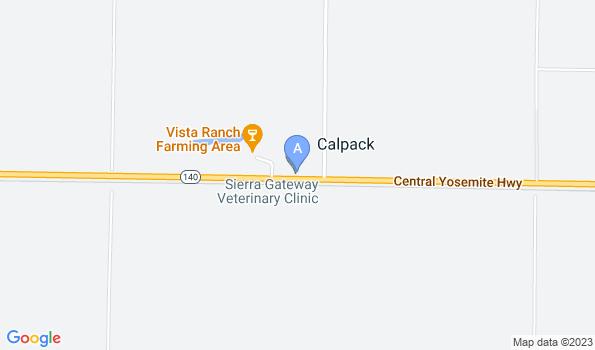 Street map of Sierra Gateway Veterinary Clinic