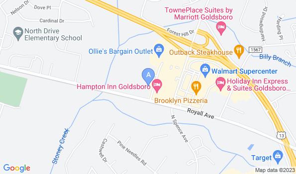 Street map of Landmark Animal Clinic