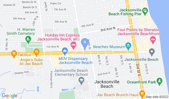 Street map of Beaches Animal Clinic