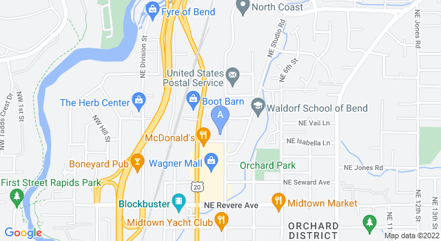 Street map of Central Oregon Animal Hospital