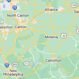 Mercy STATCARE North Canton Urgent Care Sports Medicine Therapy - Ohio physical map